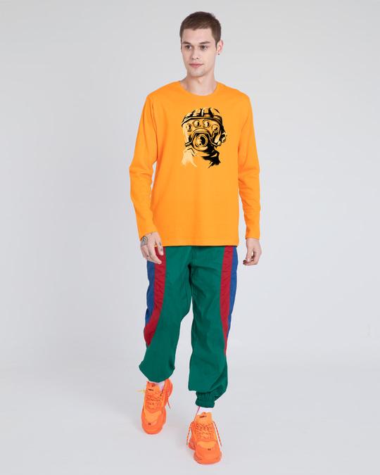 Shop Thanos Gauntlet Full Sleeve T-Shirt  (AVL) Neon Orange-Design