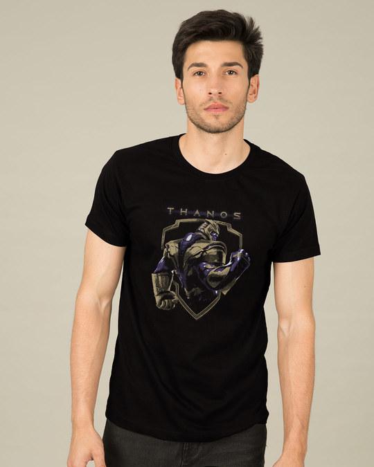 Shop Thanos Half Sleeve T-Shirt (AVEGL)-Back