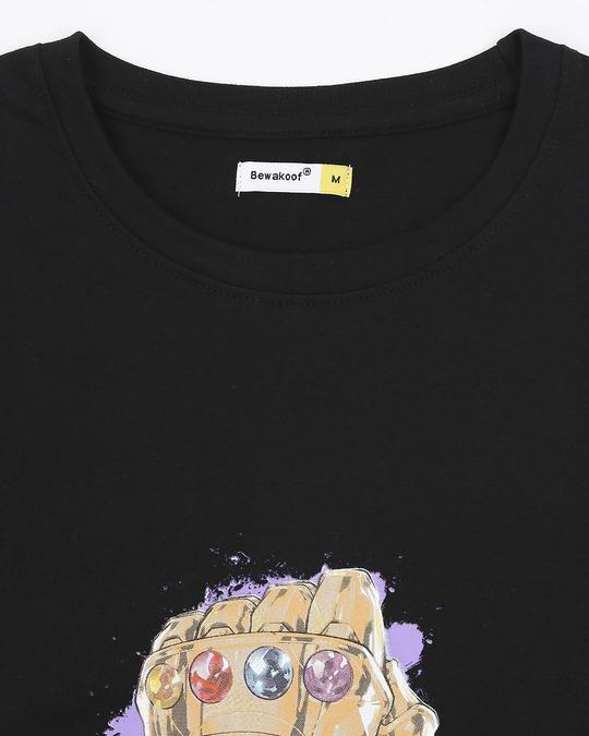 Shop Thanos Half Sleeves T-Shirt (AVEGL)
