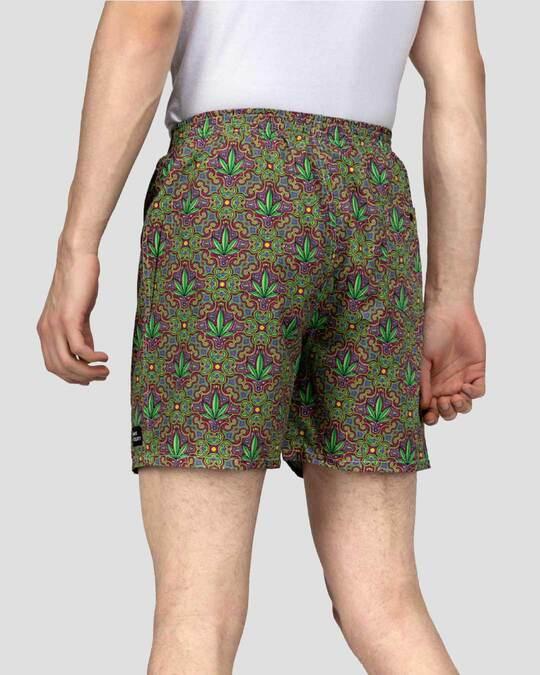 Shop What's Down | The 420 Boxer Shorts | Green Hemp Boxers-Design