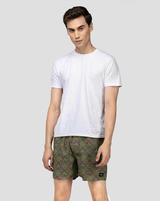 Shop What's Down | The 420 Boxer Shorts | Green Hemp Boxers-Full