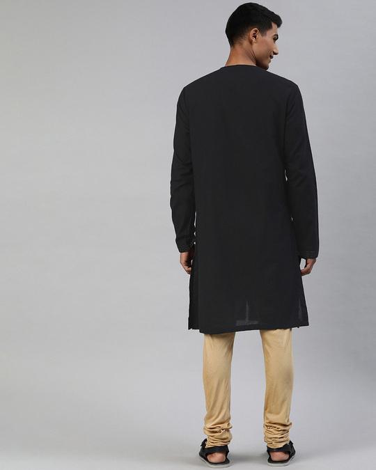 Shop Men Black Angrakha Style Festival Kurta-Design
