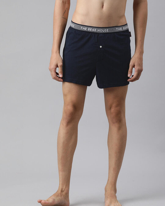 Shop Men Pack Of 2 Printed Knitted Boxers-Full