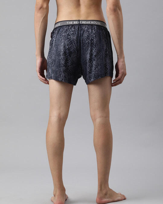 Shop Men Pack Of 2 Printed Knitted Boxers-Back