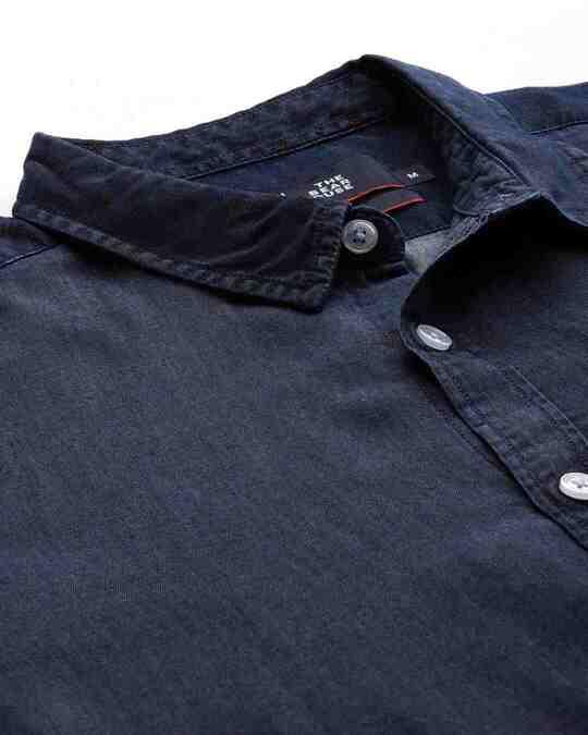 Shop Men's Blue Core Denim Shirt-Back