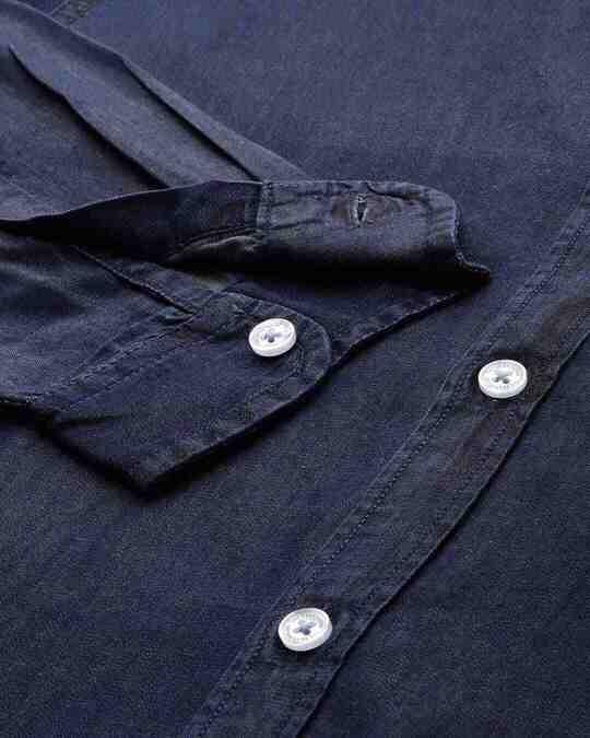 Shop Men's Blue Core Denim Shirt-Design