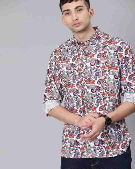 Shop Men's Paisley Print Shirt-Full