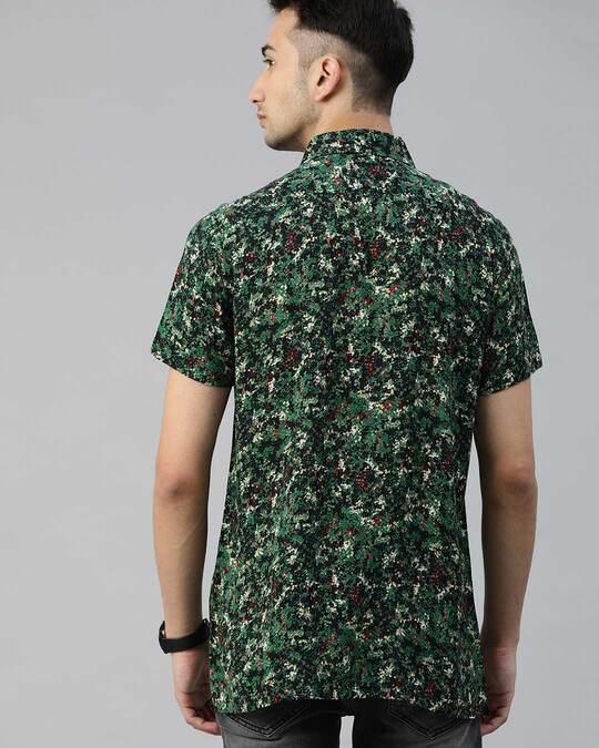 Shop Men's Printed Bowling Collar Shirt-Design
