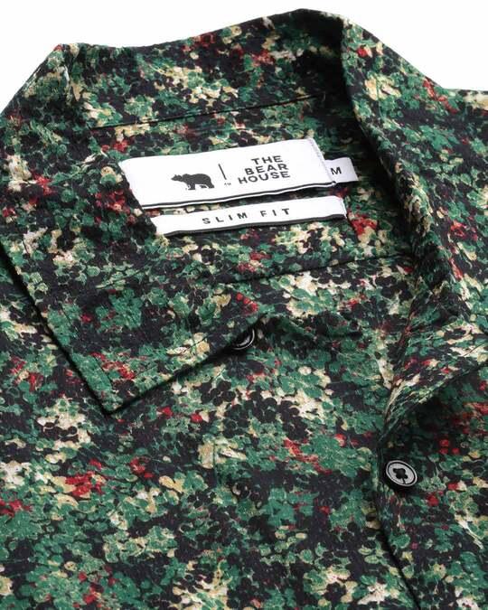 Shop Men's Printed Bowling Collar Shirt