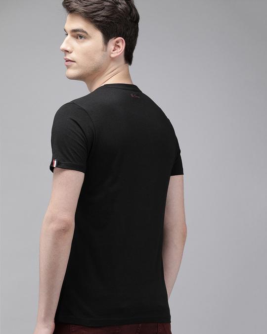 Shop Printed Men Round Neck Black T Shirt-Design