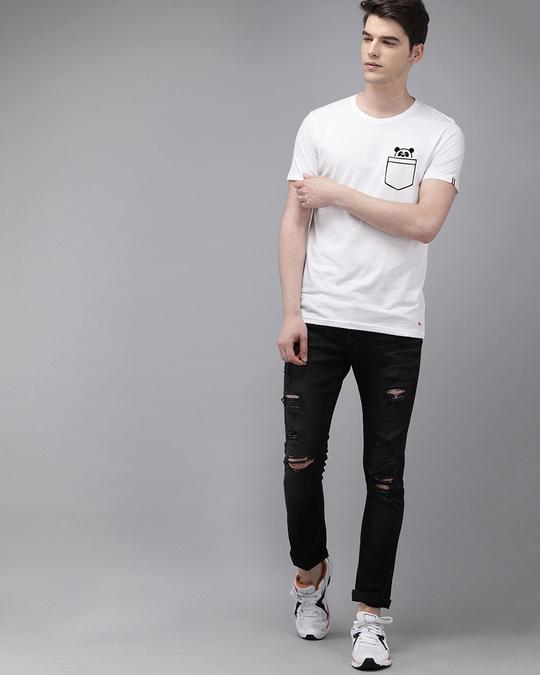 Shop Printed Men Round Neck White T Shirt-Full