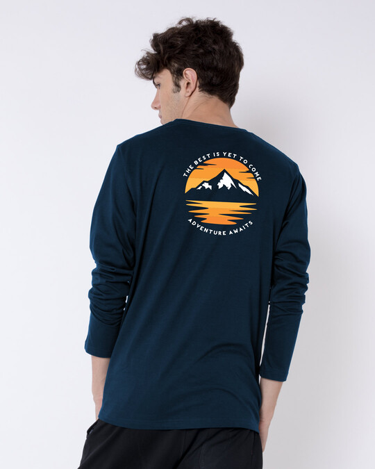 Shop The Best is Yet to Come  Full Sleeve T-Shirts Navy Blue-Design