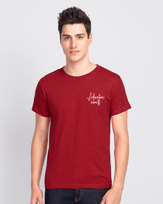 Shop The Best is Yet to Come  Half Sleeve T-shirt Bold Red-Back