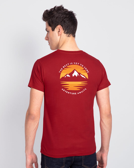 Shop The Best is Yet to Come  Half Sleeve T-shirt Bold Red-Design