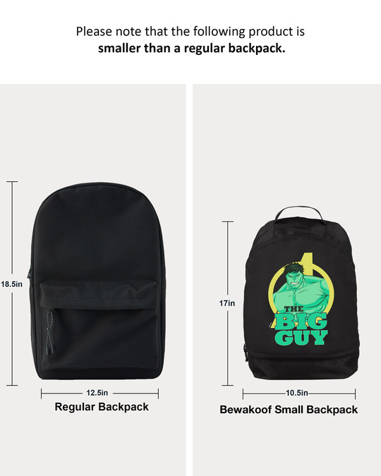 Shop The Big Guy Small Backpack-Full