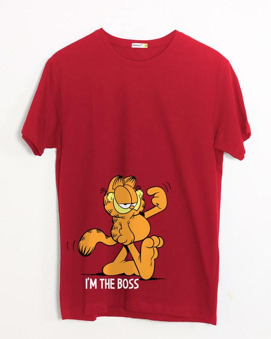 Shop The Boss Cat Half Sleeve T-Shirt (GL)-Front