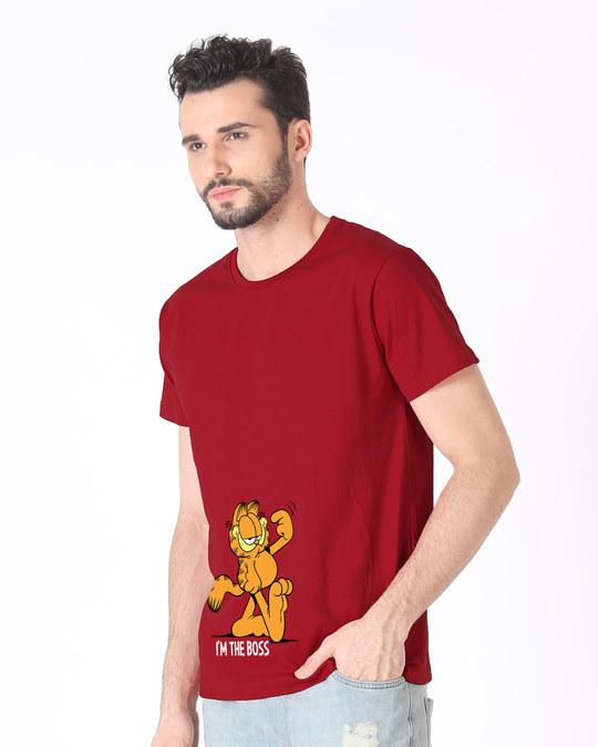 Shop The Boss Cat Half Sleeve T-Shirt (GL)-Full