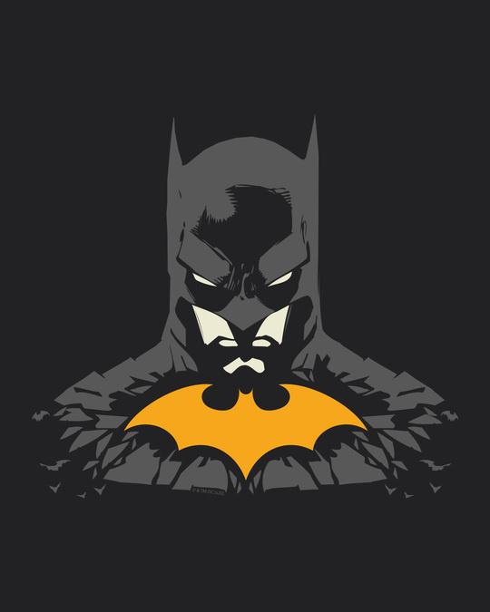 Shop The Dark Knight Yellow Symbol Stylised Panel Hoodie Sweatshirt (BML)