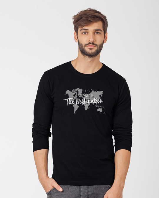 Shop The Destination Full Sleeve T-Shirt-Front