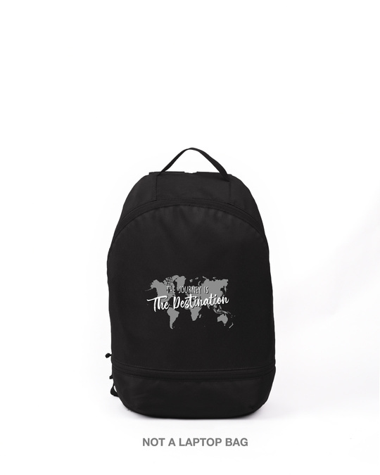 Shop The Destination Printed Small Backpack-Front