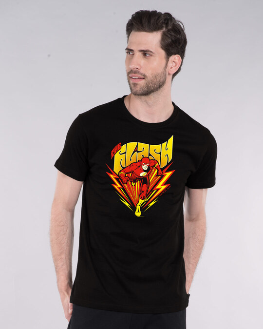 Shop The Flash Front Half Sleeve T-Shirt (FL)-Front