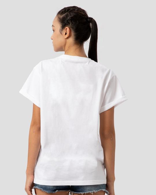 Shop The future of the Galaxy Printed Boyfriend T-Shirts-Back