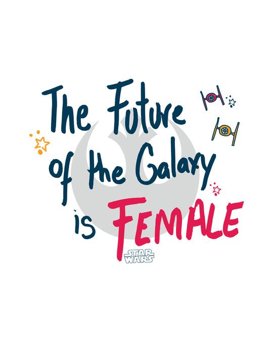 Shop The future of the Galaxy Printed Boyfriend T-Shirts-Full