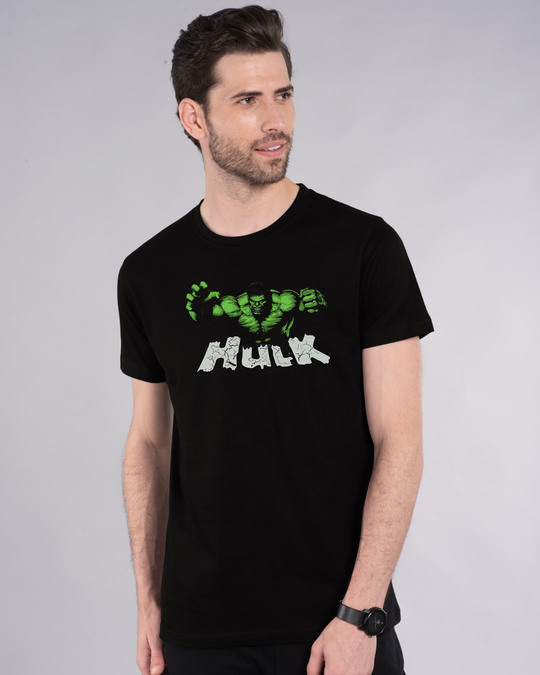 Shop The Hulk Half Sleeve T-Shirt (AVL)-Front