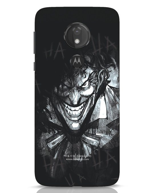 Shop The Joker Laugh Moto G7 Power Mobile Cover (BML)-Front
