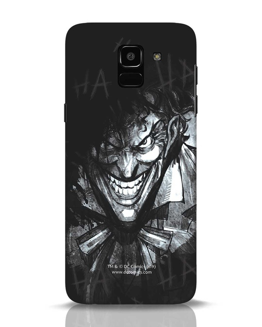 Shop The Joker Laugh Samsung Galaxy J6 Mobile Cover (BML)-Front