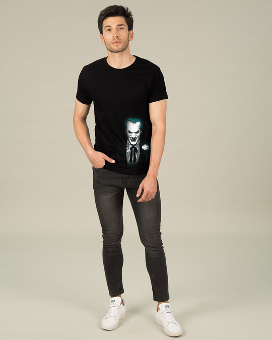 Shop The Joker Realistic Glow In Dark Half Sleeve T-Shirt (BML) -Design