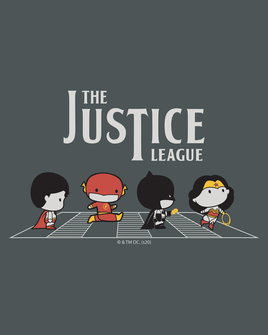Shop The Justice League Road Full Sleeve T-Shirt (DCL)