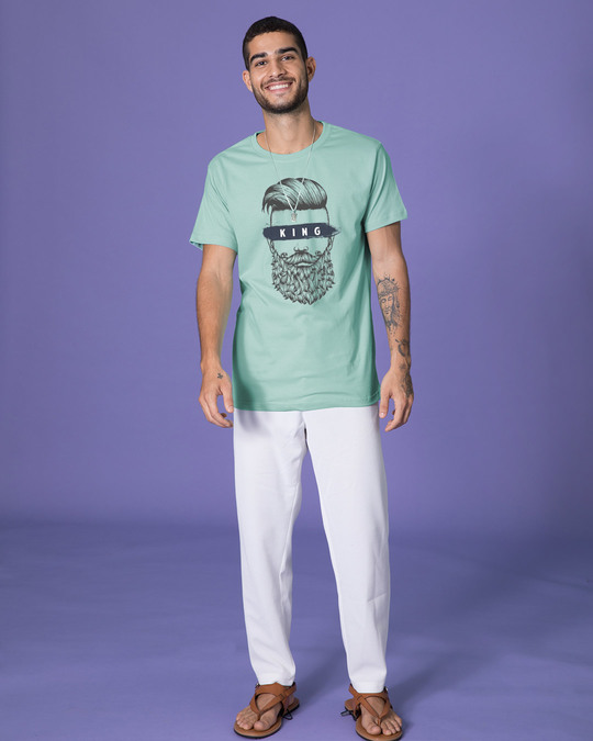 Shop The King Of Beards Half Sleeve T-Shirt