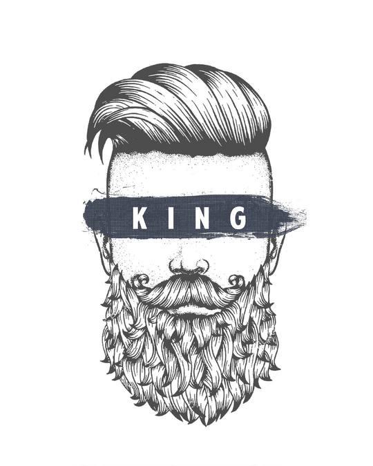 Shop The King Of Beards Half Sleeve T-Shirt