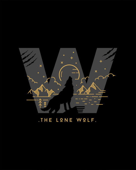 Shop The Lone Wolf Full Sleeve T-Shirt-Full