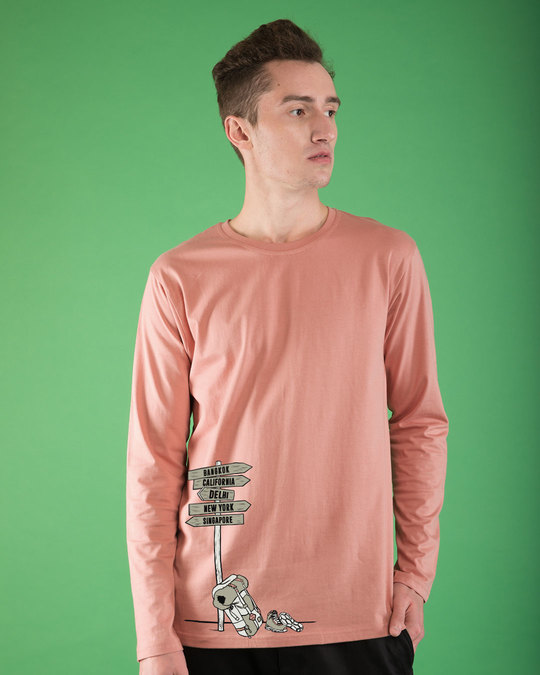 Shop The Lost Traveler Full Sleeve T-Shirt-Front