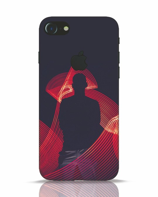 Shop The Man iPhone 7 Logo Cut Mobile Cover-Front