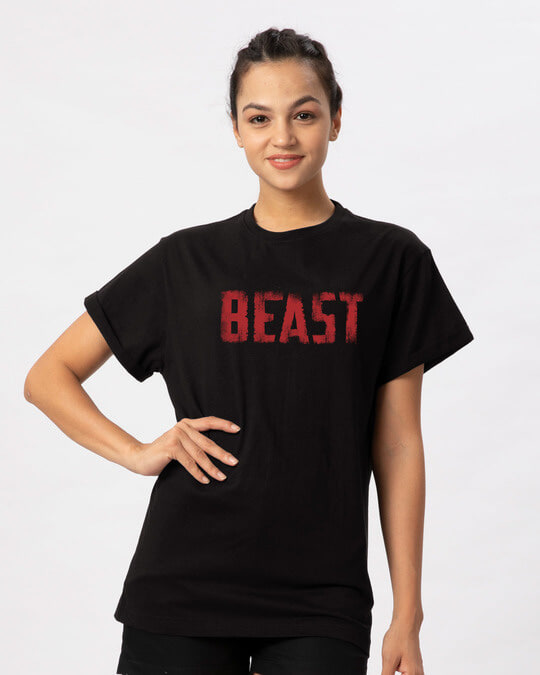 Shop The New Beast Boyfriend T-Shirt-Front
