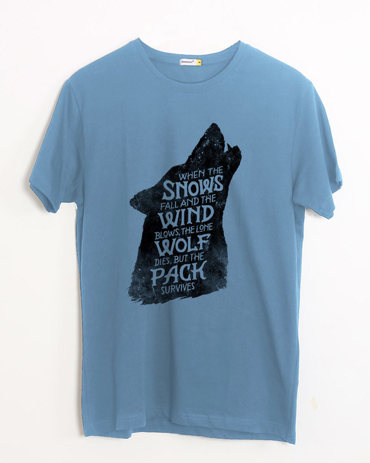 Shop The Pack Survives Half Sleeve T-Shirt (GTL)-Front