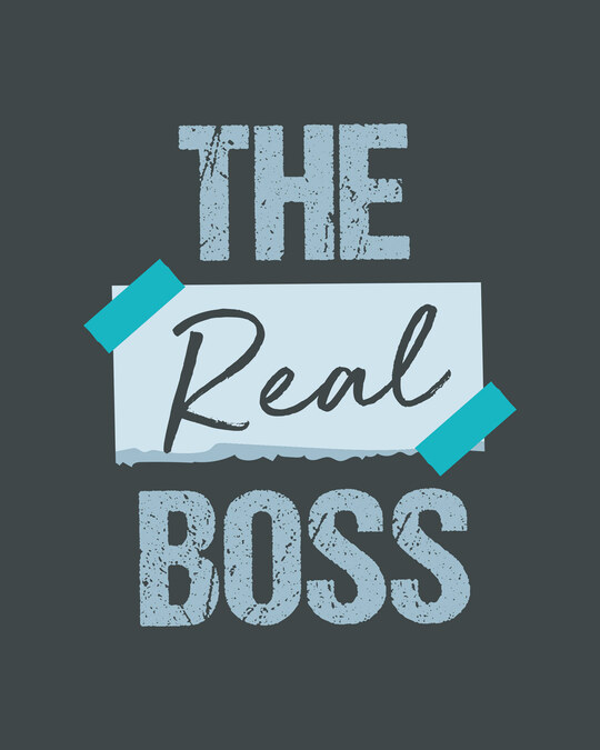 Shop The real boss Round Neck 3/4th Sleeve T-Shirt