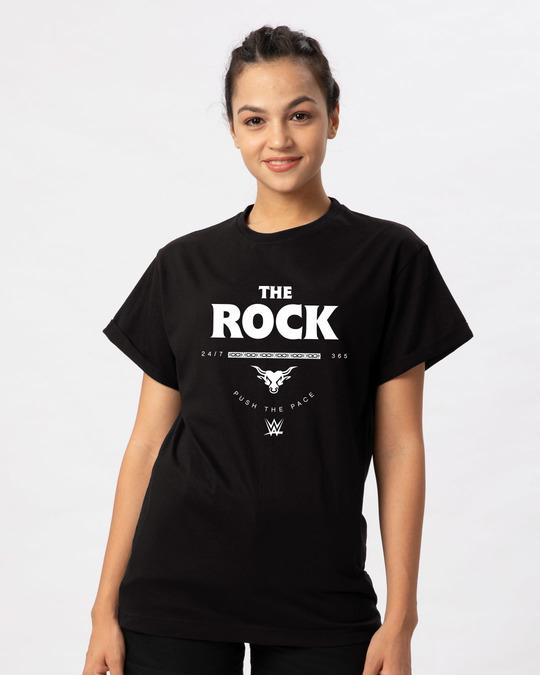 Shop The Rock Boyfriend T-Shirt (WWEL)-Front