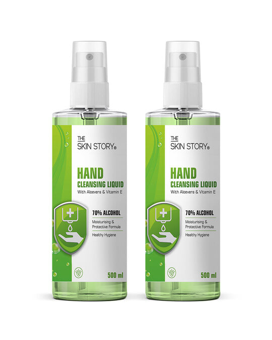 Shop Hand Cleansing Liquid Sanitiser, 70% Alcohol, Pack Of 2 1000ml-Front