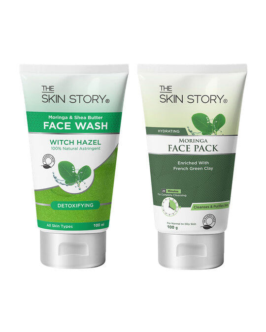 Shop Moringa Care Duo ( Face Wash + Face Pack)-Front