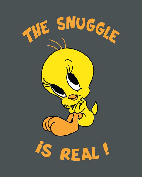Shop The Snuggle Is Real Boyfriend T-Shirt (TWL)