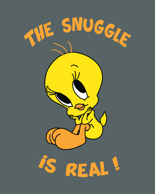 Shop The Snuggle Is Real Round Neck 3/4th Sleeve T-Shirt (TWL)