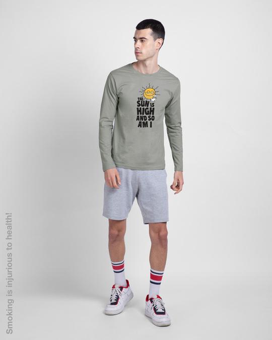 Shop The Sun Is High Full Sleeve T-Shirt-Design