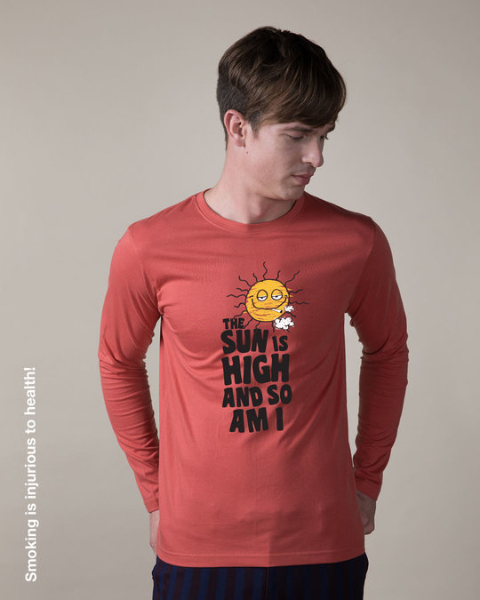Shop The Sun Is High Full Sleeve T-Shirt-Front