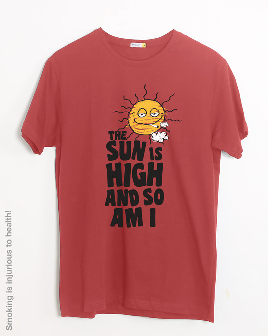 Shop The Sun Is High Half Sleeve T-Shirt-Front