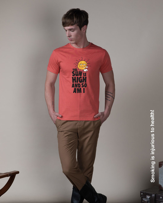 Shop The Sun Is High Half Sleeve T-Shirt-Full