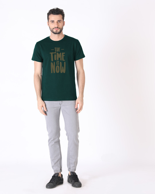 Shop The Time Is Now Half Sleeve T-Shirt